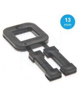 FIXCLIP plastic buckles black 13mm black, 1000pcs