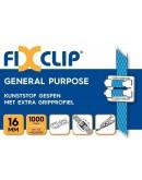 FIXCLIP plastic buckles transparent 16mm, 1000pcs Strapping