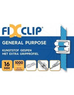 FIXCLIP plastic buckles transparent 16mm, 1000pcs