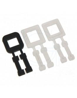 FIXCLIP plastic buckles transparent 13mm, 1000pcs