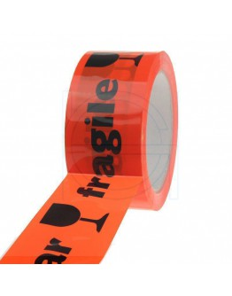 PP acryl tape BREEKBAAR fluor-oranje 48mm/66m High-tack Low-noise