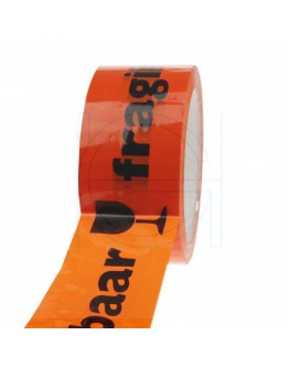 PP acryl tape BREEKBAAR oranje 48mm/66m High-tack Low-noise