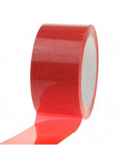 PP acryl tape 50mm/66m RED Low-noise