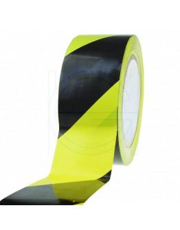 Floor marking tape PVC yellow/black 50mm/33m