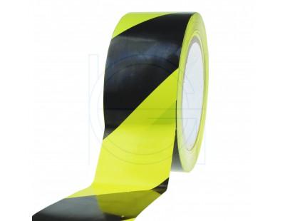 Floor marking tape PVC yellow/black 50mm/33m 150my Tape