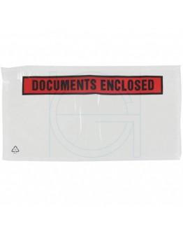 """Documenthoezen """"Documents enclosed"""" DL 1/3-A4 225x122mm 1.000 stuks"""