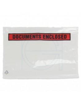 """Documenthoezen """"Documents enclosed """" A5 225x165mm 1.000 stuks"""