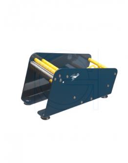Etikettendispenser metaal 2-vaks 115mm