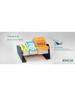 Etikettendispenser metaal 3-vaks 165mm