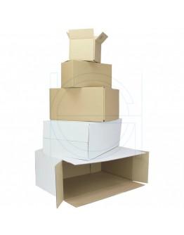 Cardboard box Fefco-0201 white 348x240x282mm
