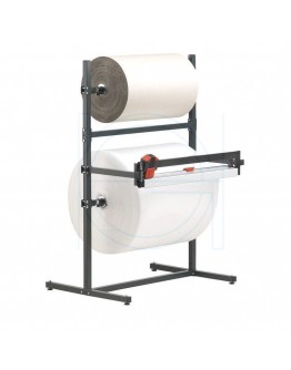 Roll dispenser 75cm for 2 rolls, with 1 cutting system