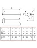 VARIO ondertafelmodel 30 cm VARIO series Hudig + Rocholz