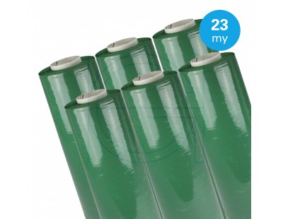 Hand stretch film Green 23µ / 50cm / 300m Stretch film rolls
