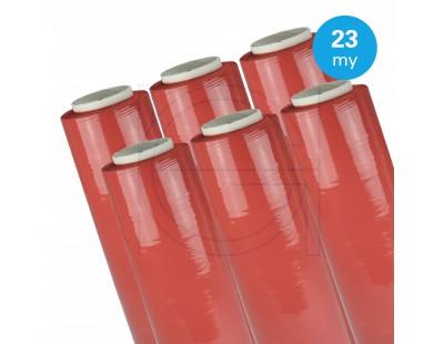 Hand stretch film red 23µ / 50cm / 270m Stretch film rolls