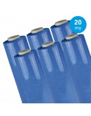 Hand stretch film Blue 20µ / 50cm / 300m Stretch film rolls