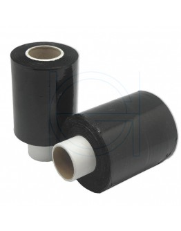 Mini-stretch film rolls black 23µm / 100mm / 150m
