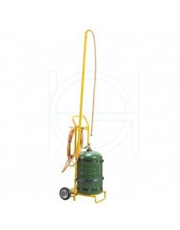 Gas bottle cart for schrinkgun