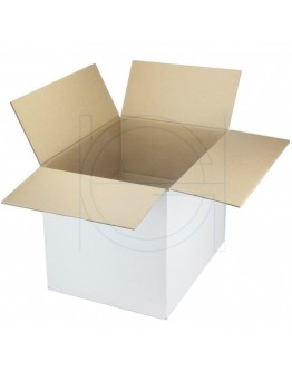 Cardboard box G Fefco-0201 white 420x320x320mm