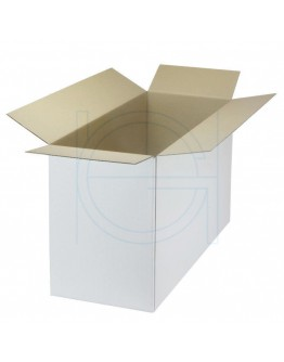 Cardboard box B Fefco-0201 white 533x210x305mm