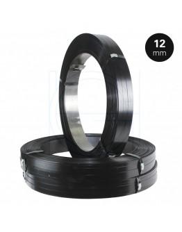 Staalband AW 12/0,5mm Zwart Gelakt