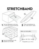 Elastic stretch band for pallets, 100pcs Stretch film rolls