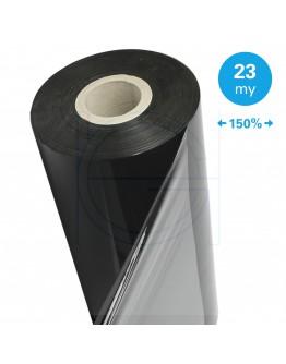 Zwarte Machinestretchfolie 150% rek 23µ / 50cm / 1.500m
