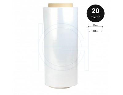 Mini-stretch film rolls 20µm /  250mm / 300m Stretch film rolls