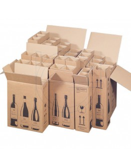 Wine bottle box for 1 bottle 105x105x420mm