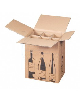 Wine bottle box for 6 bottles 305x212x368mm