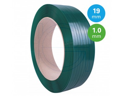 PET Strapping Green 19mm/1,00mm/1000m Strapping