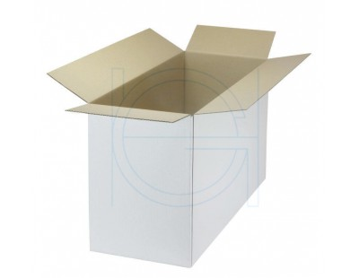 Cardboard box D Fefco-0201 white 533x230x330mm