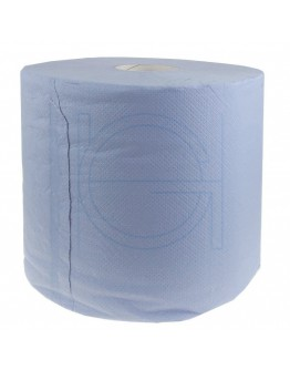 Industrial cleaning paper rolls FIX-HYGIËNE glued blue, 24cm / 300m - 2 rolls