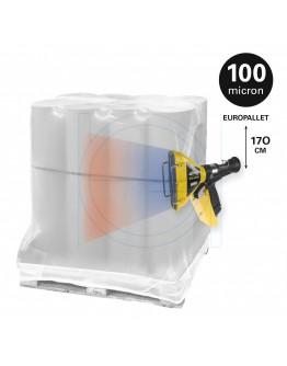 Schrink sleeve LDPE 127x(2x44)x170cm / 100µ