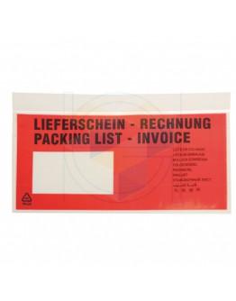Paklijstenvelop 1/3 A4 meertalig  1.000 stuks
