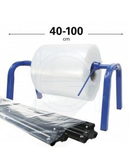Roll dispenser for Poly Tube film 40-100cm blue