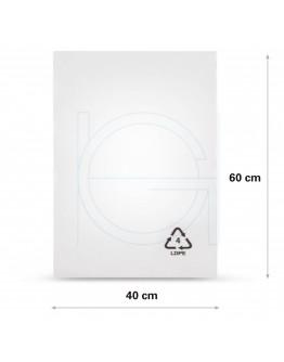 Flat poly bags LDPE, 40x60cm, 25my - 1000x