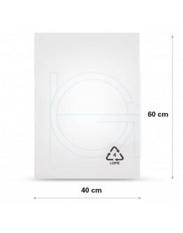 Flat poly bags LDPE, 40x60cm, 50my - 1000x
