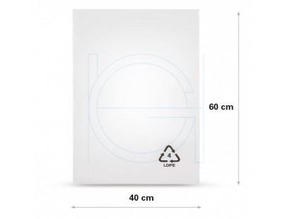 Flat poly bags LDPE, 40x60cm, 50my - 1000x PE Film