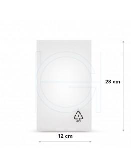 Flat poly bags LDPE, 12x23cm, 50my - 1000x