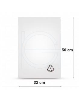 Flat poly bags LDPE, 32x50cm, 50my - 1000x