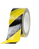 Floor marking tape DUCT yellow/black 50mm/33m Tape