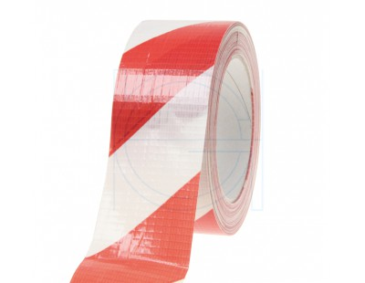 Floor marking tape DUCT red/white, 50mm/33m Tape