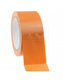 Construction Tape PVC orange  50mm/33m